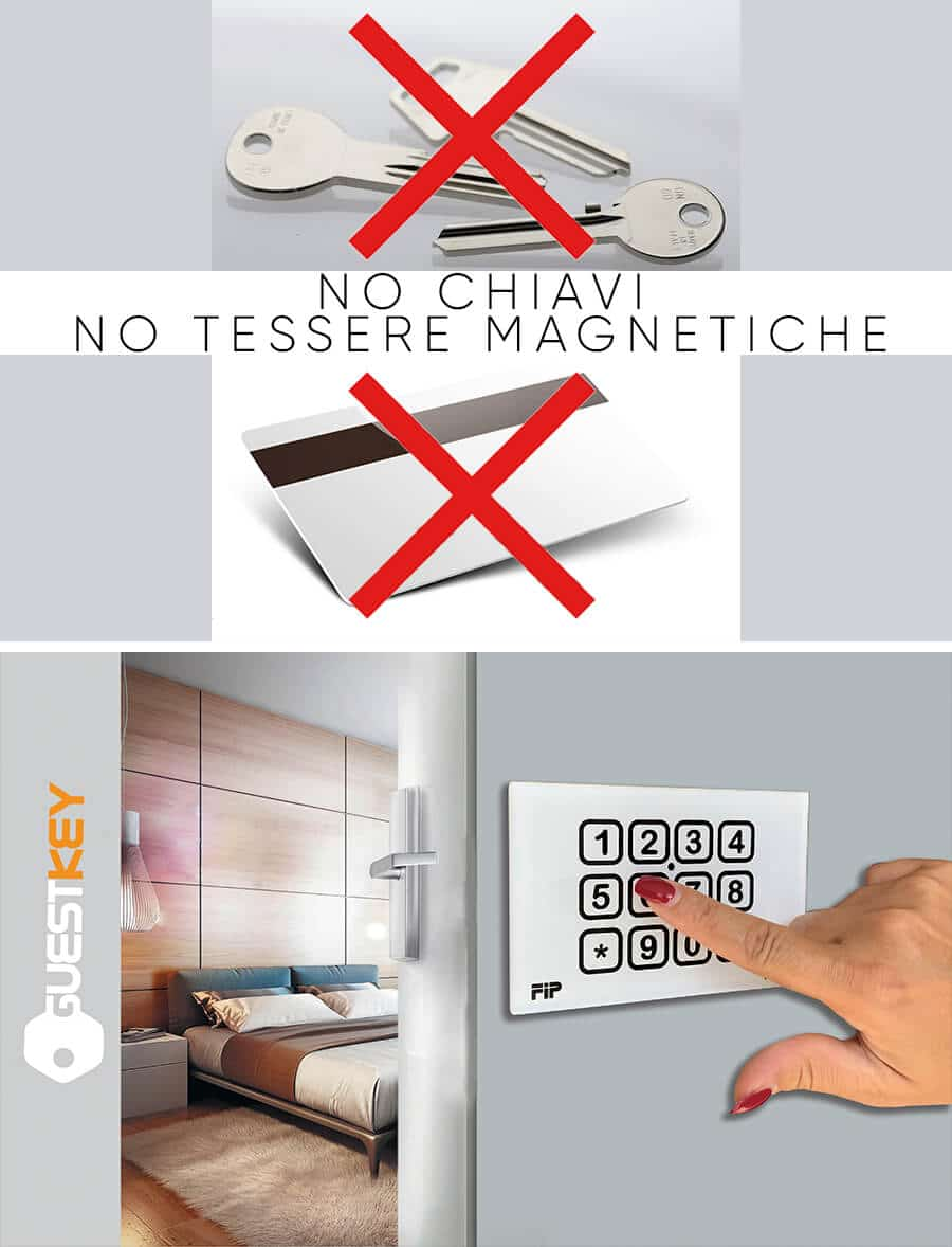 senza chiavi senza tessere