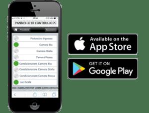Controllo apertura camere tramite smartphone