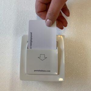 Tasca per il risparmio energetico con card