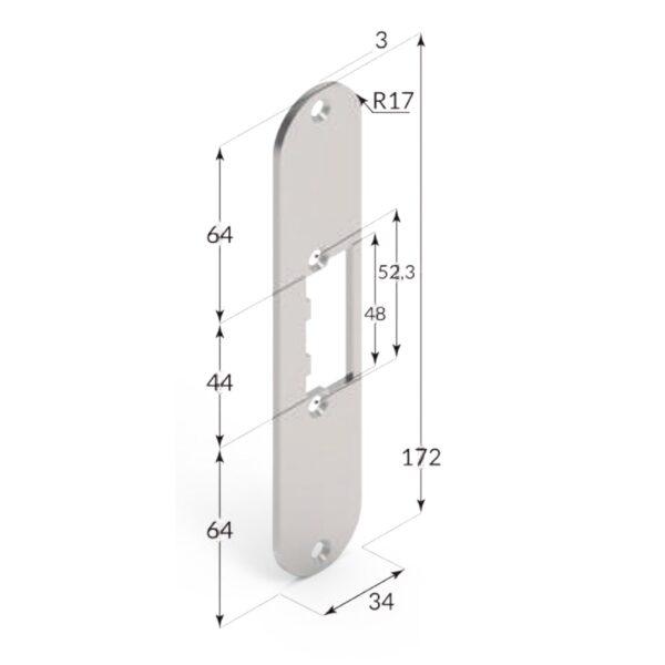 Incontro elettrico per porte interne 166FPS